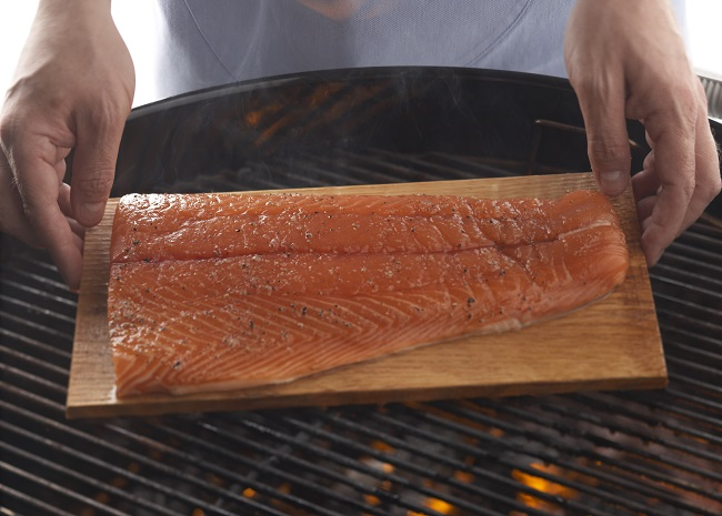 101645079 smoked salmon on the grill photo by Meredith Publishing