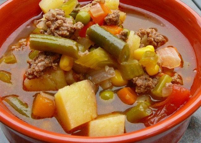 Hobo Ground Beef and Vegetable Soup