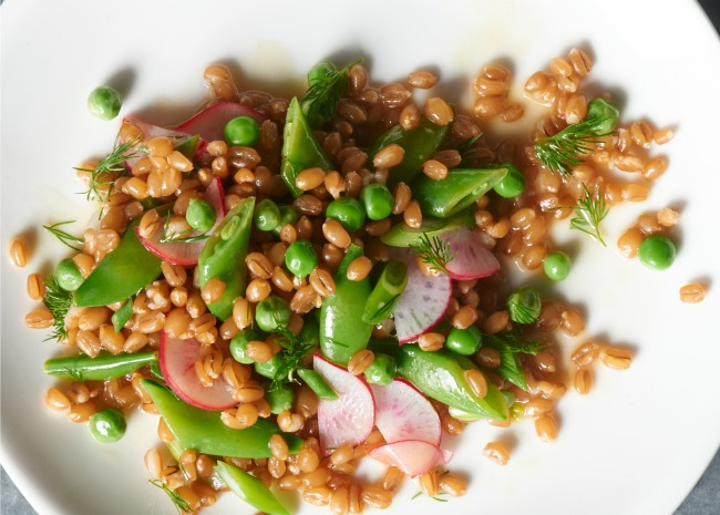 Wheat Berry Salad with Peas, Radishes, and Dill