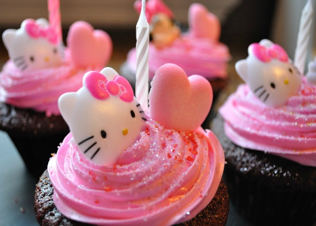 edited hello kitty cupcake by foodgypsy