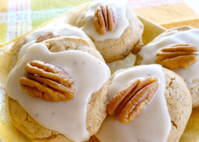 Brown Butter Cookies topped with pecans