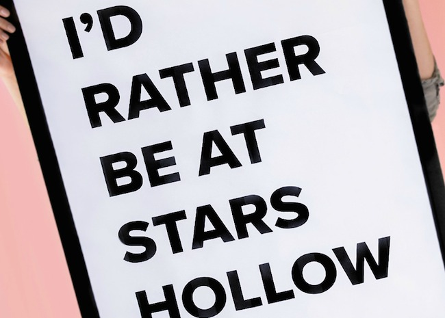 Stars Hollow Printable Poster