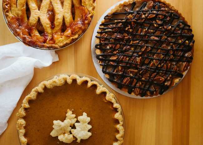 Apple, Pumpkin, and Pecan Pies