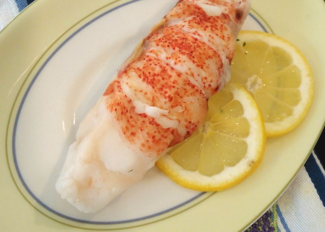 Sous Vide Butter-Poached Lobster Tails