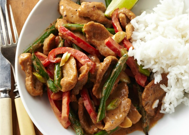 Thai Coconut Pork Curry with Peppers