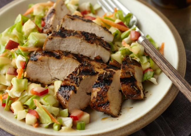 Simple Grilled Chicken with Slaw