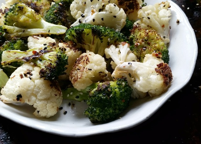 Blasted Broccoli & Cauliflower