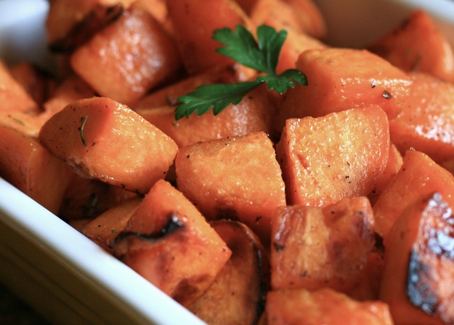 Low Cal Roasted Sweet Potato Bites