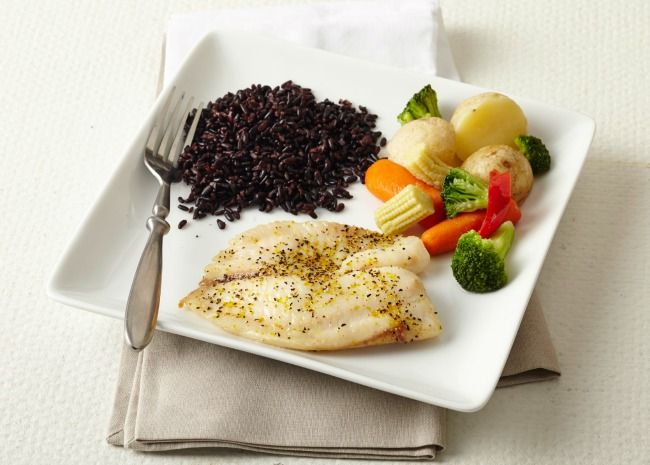 Baked Fish with Black Rice