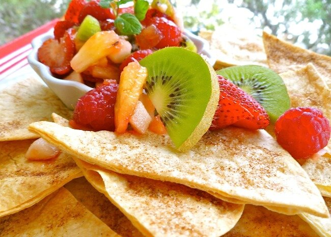 Annies Fruit Salsa and Cinnamon Chips
