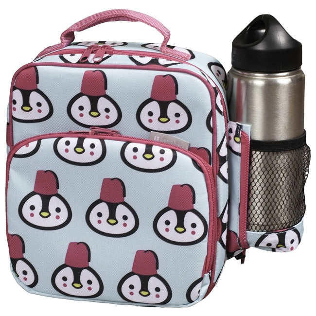 nsulated Durable Lunch Bag - Reusable Meal Tote With Handle and Pockets - Penguin