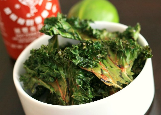 riracha-Lime Kale Chips