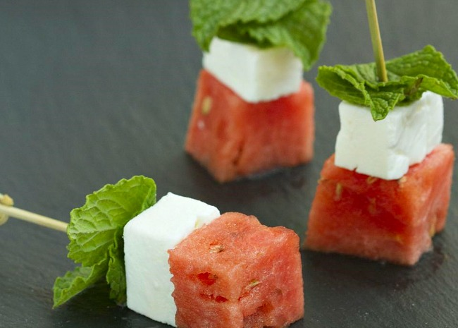 Watermelon Salad on a Stick
