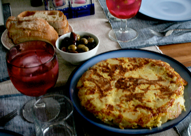 Tortilla espanola for brunch