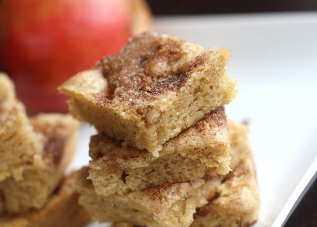 stack of Apple Squares on a plate