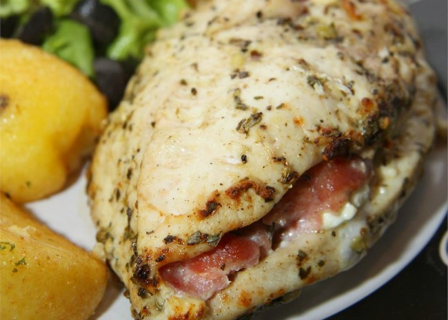 Feta Cheese and Bacon Stuffed Breasts