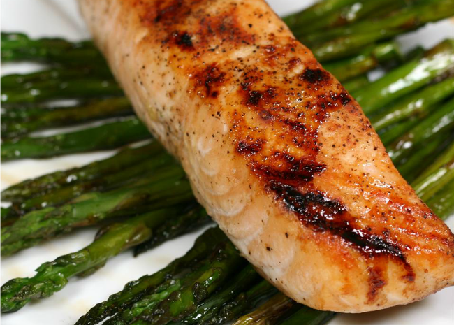 Soy-Honey Glazed Salmon with Asparagus