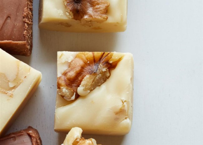 maple fudge with nuts