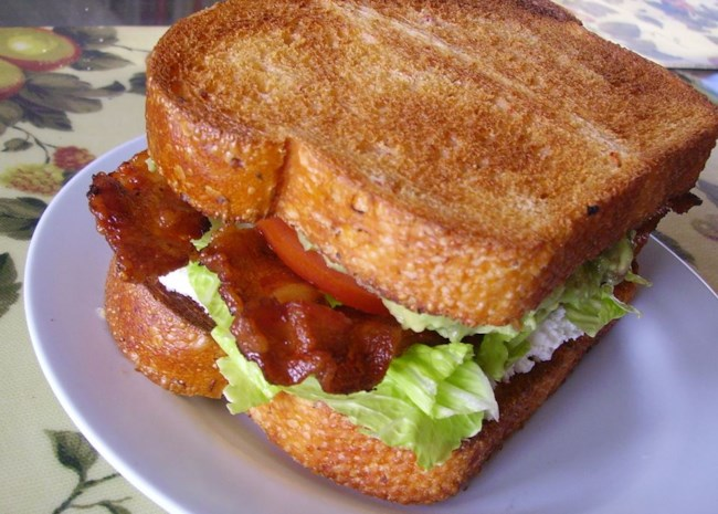 All the layers of a BLT Sandwich