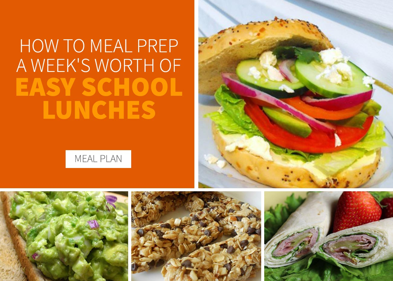 How to Meal Prep for a Week's Worth of Easy School Lunches