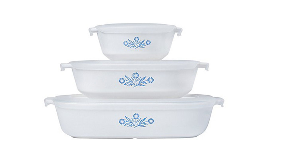 Blue White Corningware