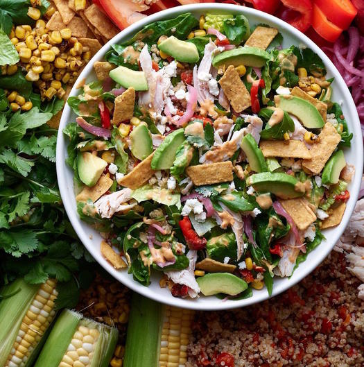 Panera Southwest Chile Lime Ranch Salad with Chicken