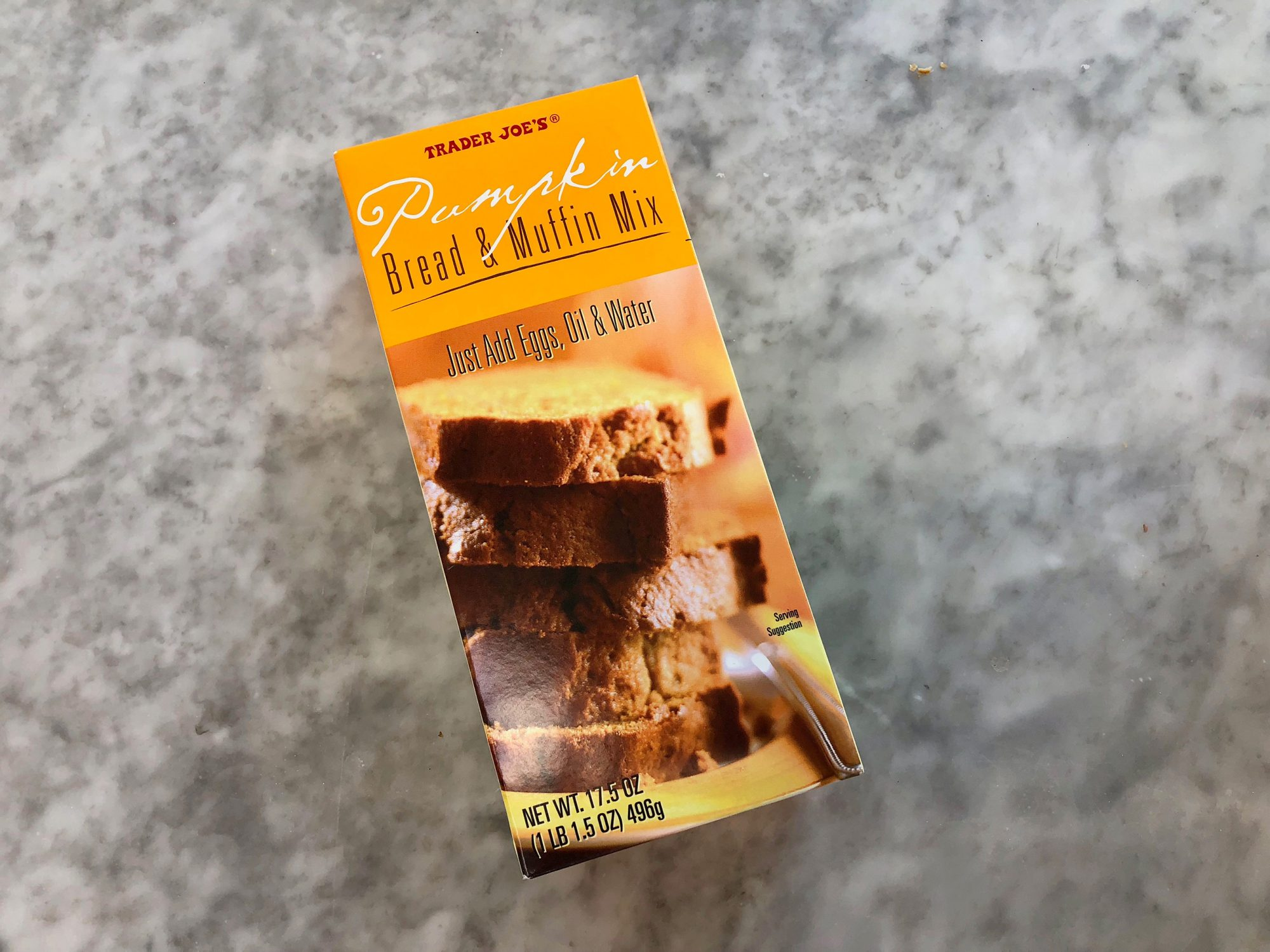 trader joes pumpkin bread and muffin mix