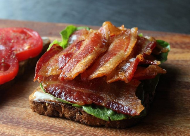 bacon for BLT sandwiches