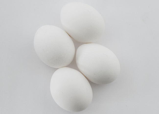White Eggs on a Counter