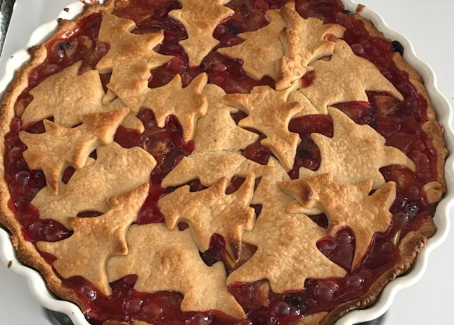 Buttery Cranberry Pie
