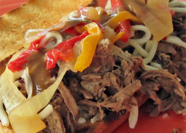 Slow Cooker Cheese Steaks