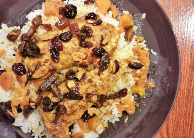 Moroccan-Style Chicken with Butternut Squash Noodles