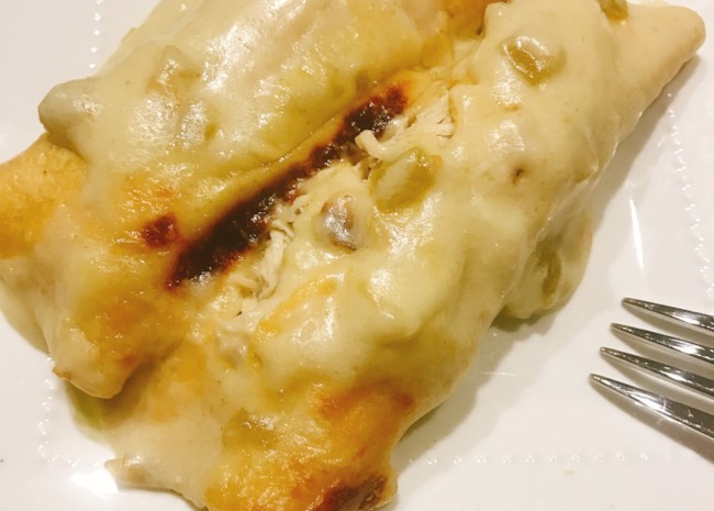 Creamy White Chicken Enchiladas