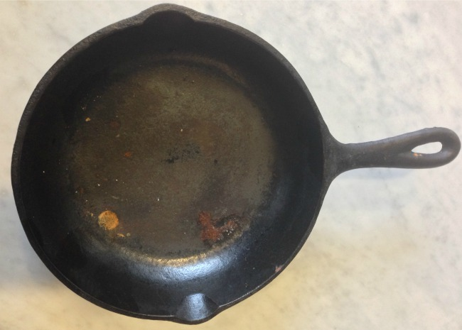 Neglected Cast Iron Pan