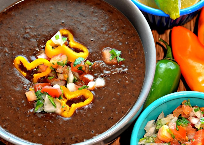 Instant Pot(R) Spicy Black Bean Soup (Vegan)