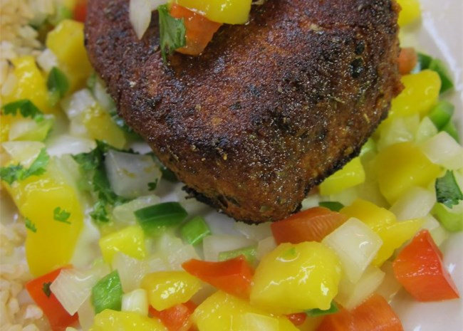 Blackened Tuna Steaks with Mango Salsa