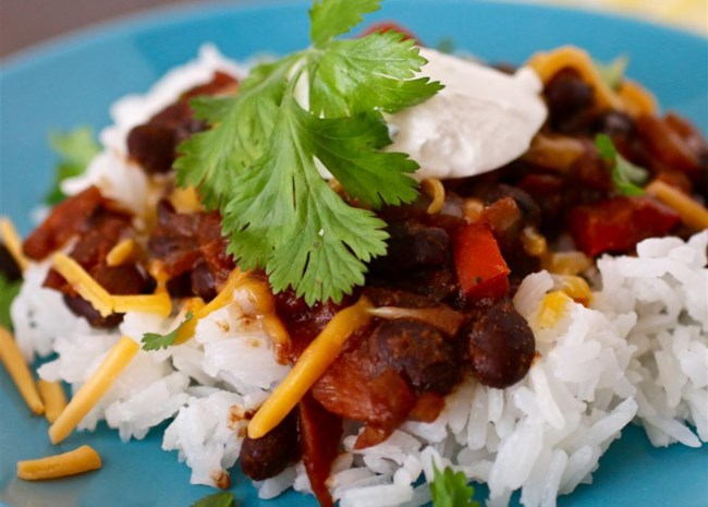 Texi-Fied Black Beans and Brown Rice
