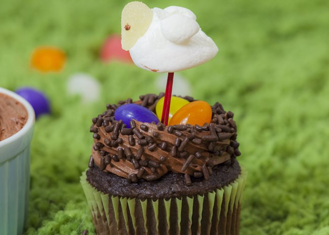 Easter Bird Nest Cupcakes