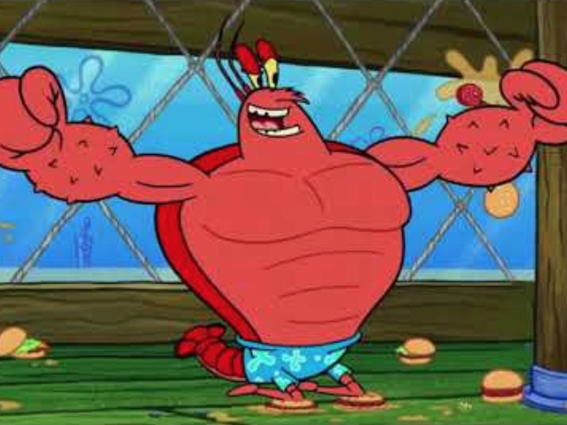cartoon larry the lobster