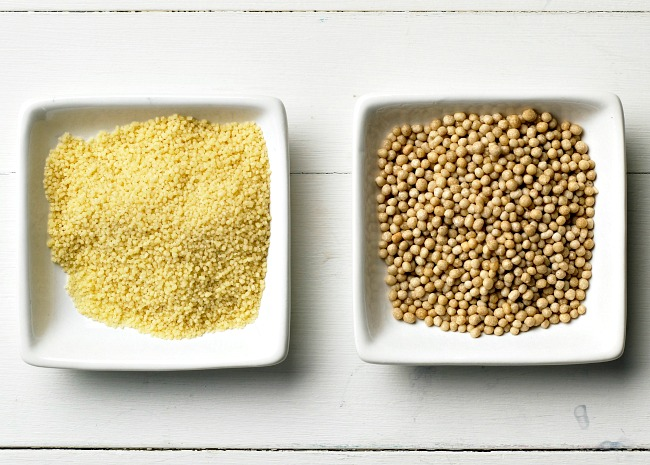 Small and Pearl or Israeli Couscous