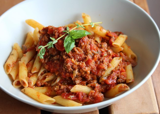 Cubanelle and Veal Bolognese