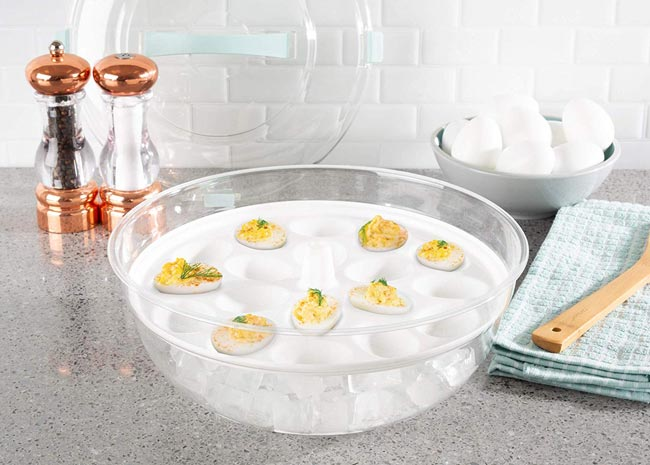 Classic Cuisine Cold Appetizer Tray-4-in-1 Chilled Platter