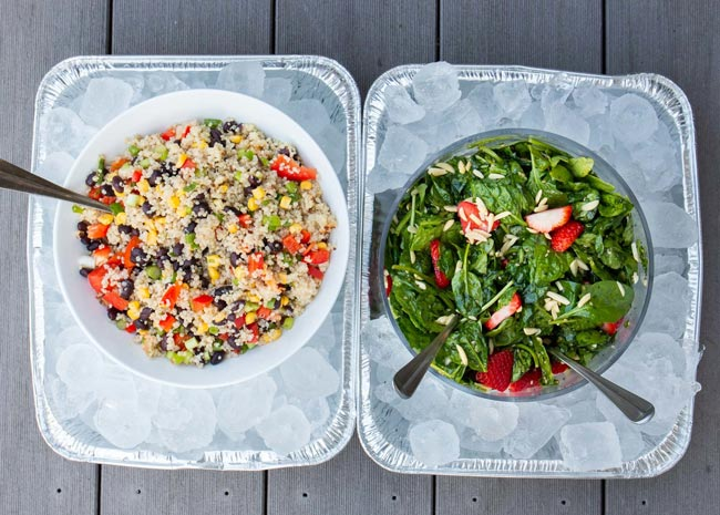 potluck tips salads on ice