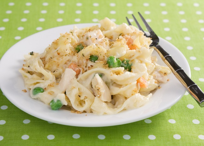 Chicken Noodle Casserole with Peas