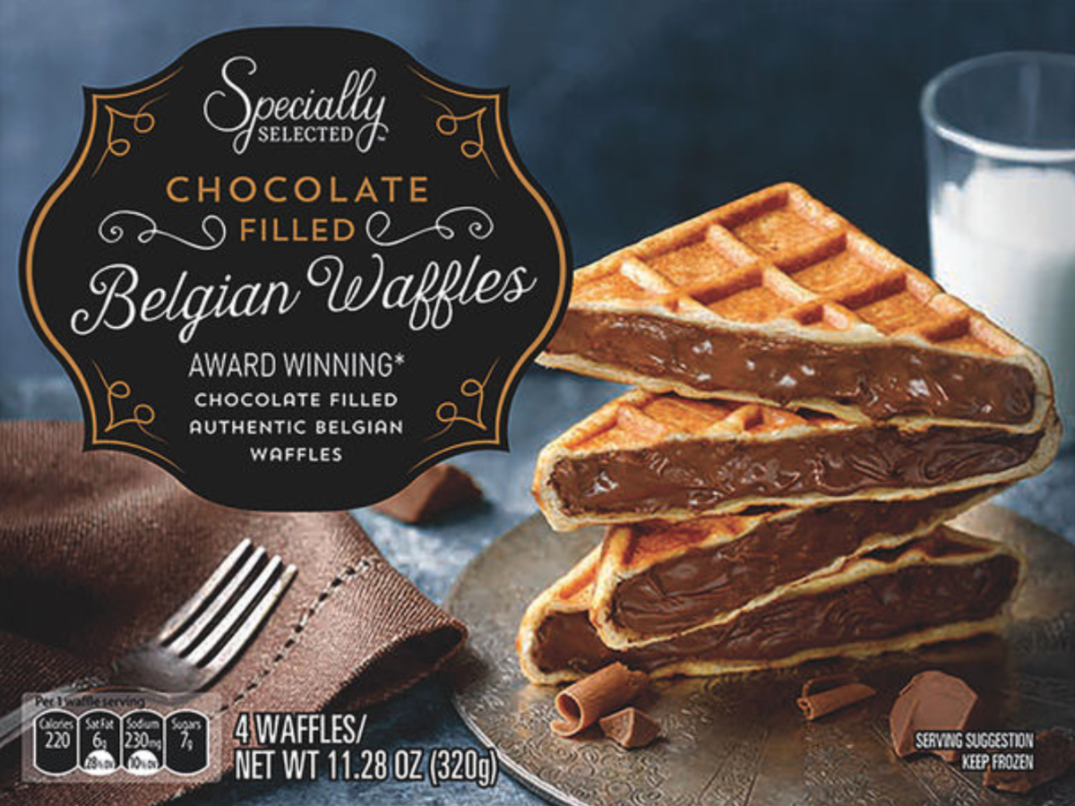 chocolate-filled belgian waffles