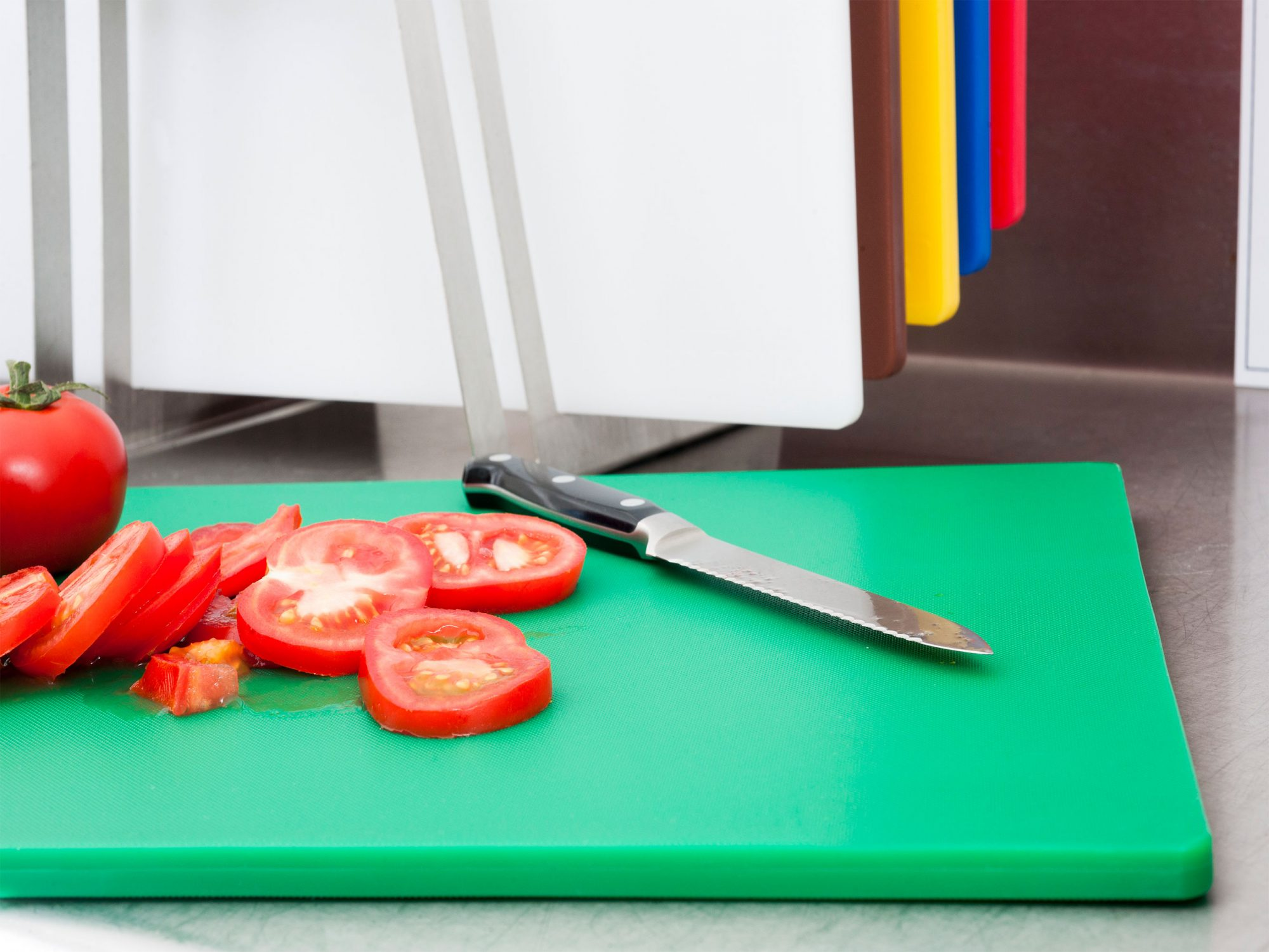 Plastic Cutting Boards with Tomato