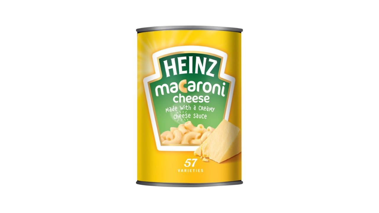 heinz mac and cheese can