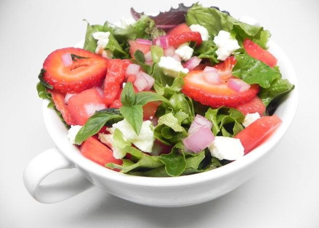 Sweet and Peppery Watermelon Salad