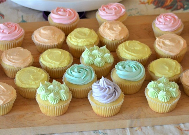 Vanilla Cupcakes with Swiss Meringue Buttercream