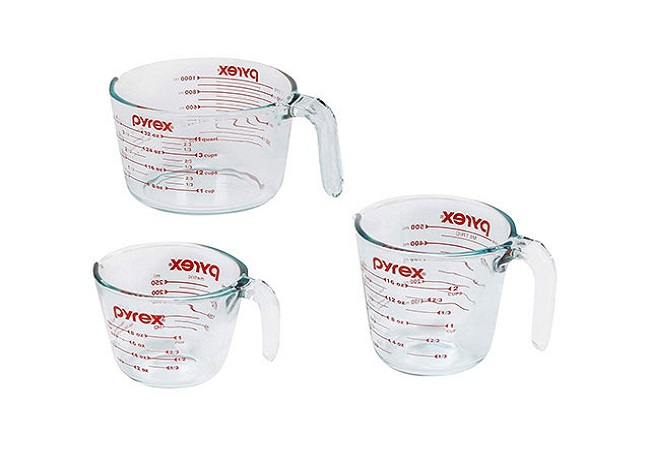 Pyrex 3-Piece Glass Measuring Cups